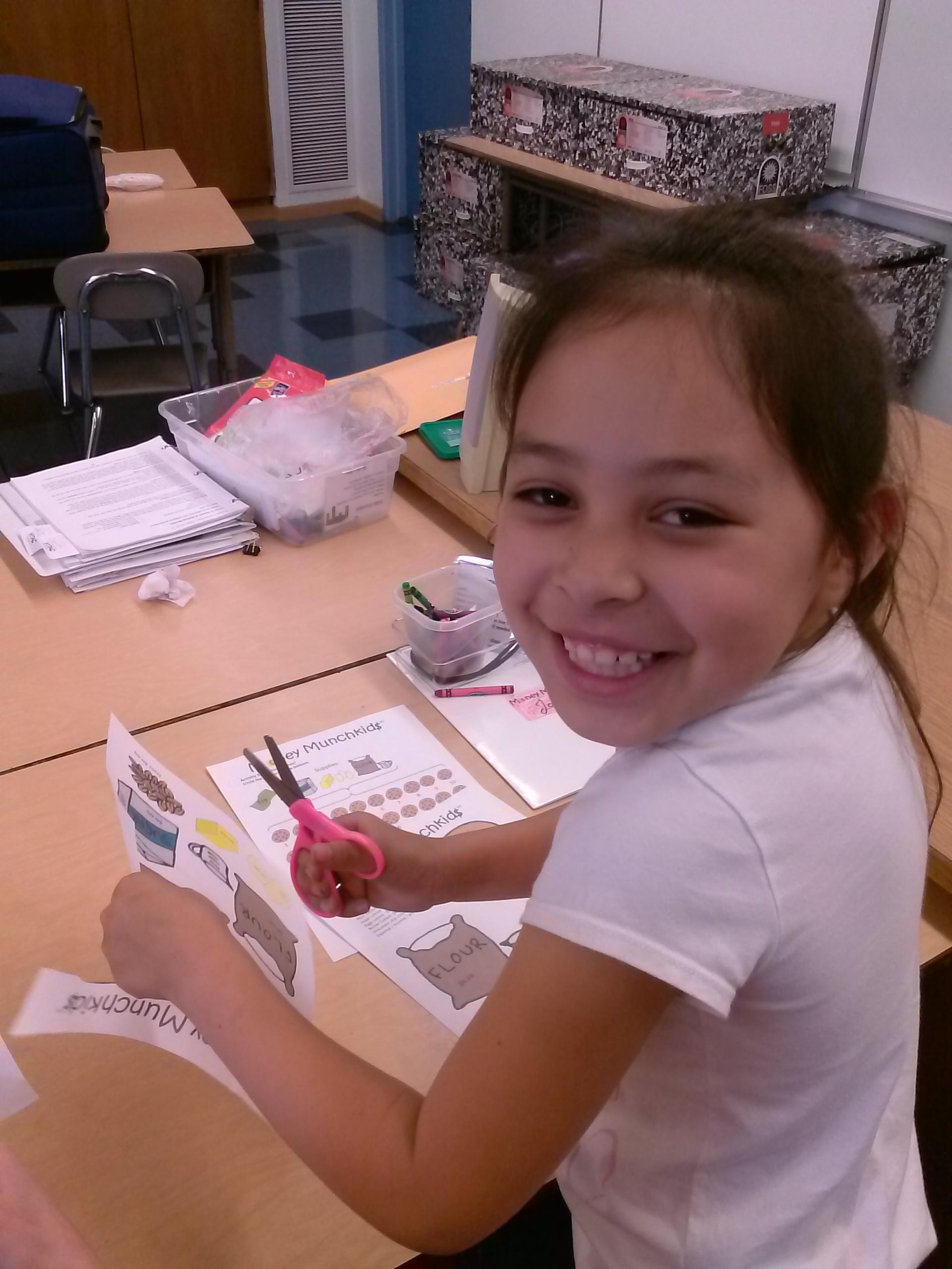 Joseline having fun learning about profit!