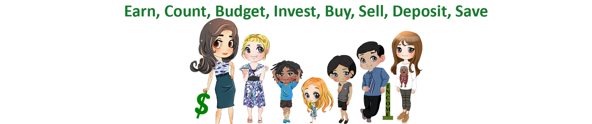 money munchkids count, budget, invest, sell deposit web banner