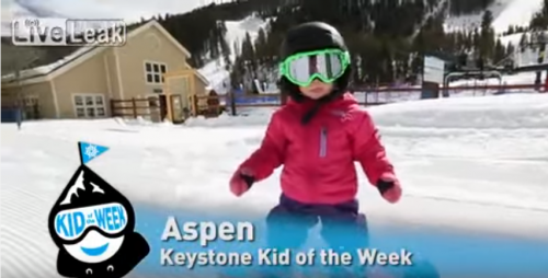 Amazing Baby Snowboarder