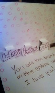 Fathers day pop out card
