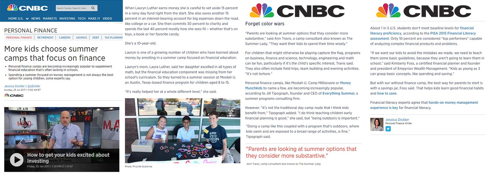 CNBC teaching kids money
