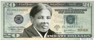 Harriet Tubman on the $20 US bill