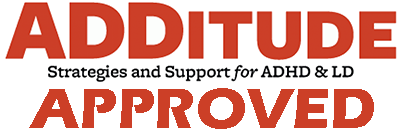 ADHD & LD approved additude magazine